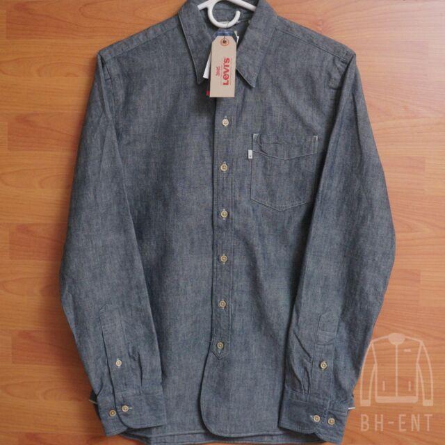 Mens Levis Sunset One Pocket Denim Shirt Selvedge Jean Chambray Nishimbo S $128