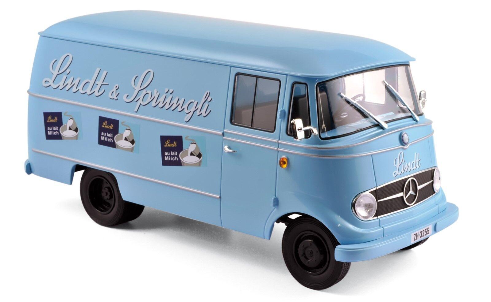MERCEDES l319 1957  Lindt & sprüngli  bleu 1 18 NOREV NOUVEAU & OVP 183418
