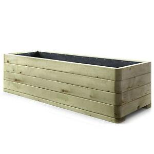 holzfee pflanzk bel holz blumenk bel massiv 180 x 50 pflanzkasten hochbeet xxl ebay. Black Bedroom Furniture Sets. Home Design Ideas