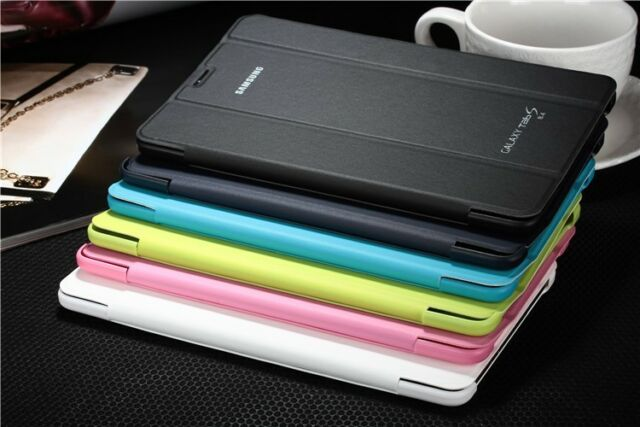 New Slim Book Cover Case + Stylus For Samsung Galaxy Tab S 8.4 T700 T705