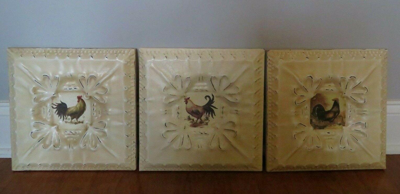 - 3x8 Roman Copper Metal Resin Wall Tile Insert Art Craft Ceiling