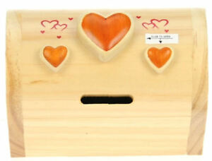 Details About Treasure Chest Money Box With Secret Lock Hearts