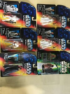 Lot of 6 Star Wars The Power of the Force Action Figures, Luke, Leia, Jawa, Stor
