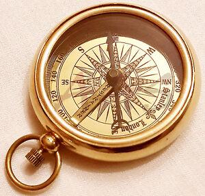 Brass Compass Working Brass Pocket Compass