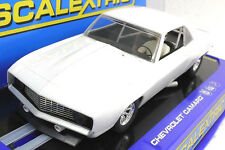 SCALEXTRIC C2451 1969 PLAIN WHITE CAMARO Z-28 NEW 1/32 SLOT CAR IN DISPLAY CASE