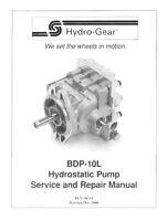 Pump PL-BGQV-DY1X-XXXX/BDP-10L-119/BDP-10L-119P/38345 HYDRO GEAR OEM FOR TRANSAX