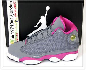 2013 Nike Air Jordan 13 XIII GS Cool Grey Pink White