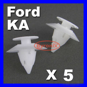 Ford-Ka-parachoques-Clips-Trim-Plastico-Fijacion-Frontal-Trasero-X5-Sujetador