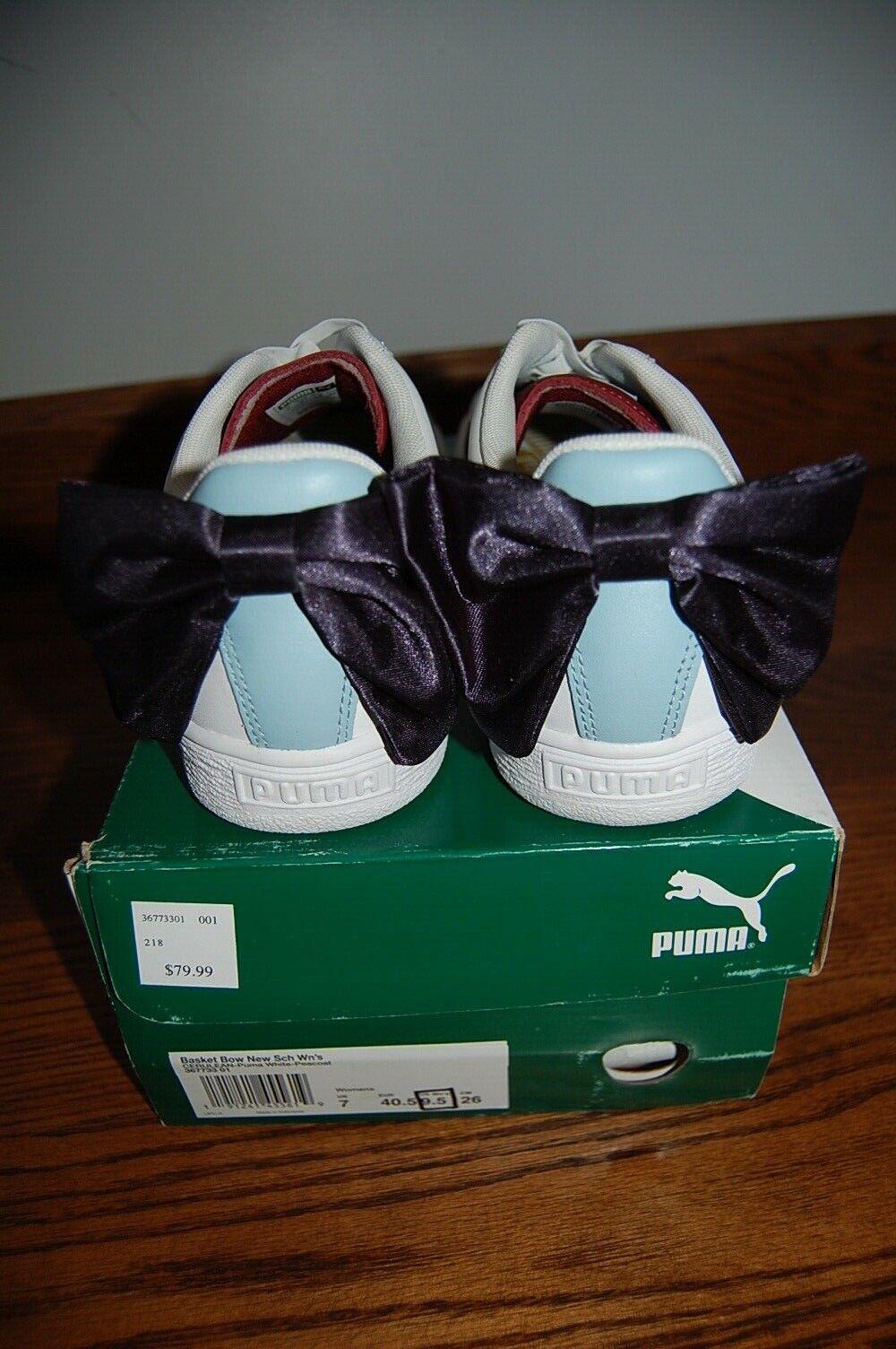 NIB Puma Women's Basket Bow Casual Sneakers Women's Women's Women's shoes 9.5 4fbab6