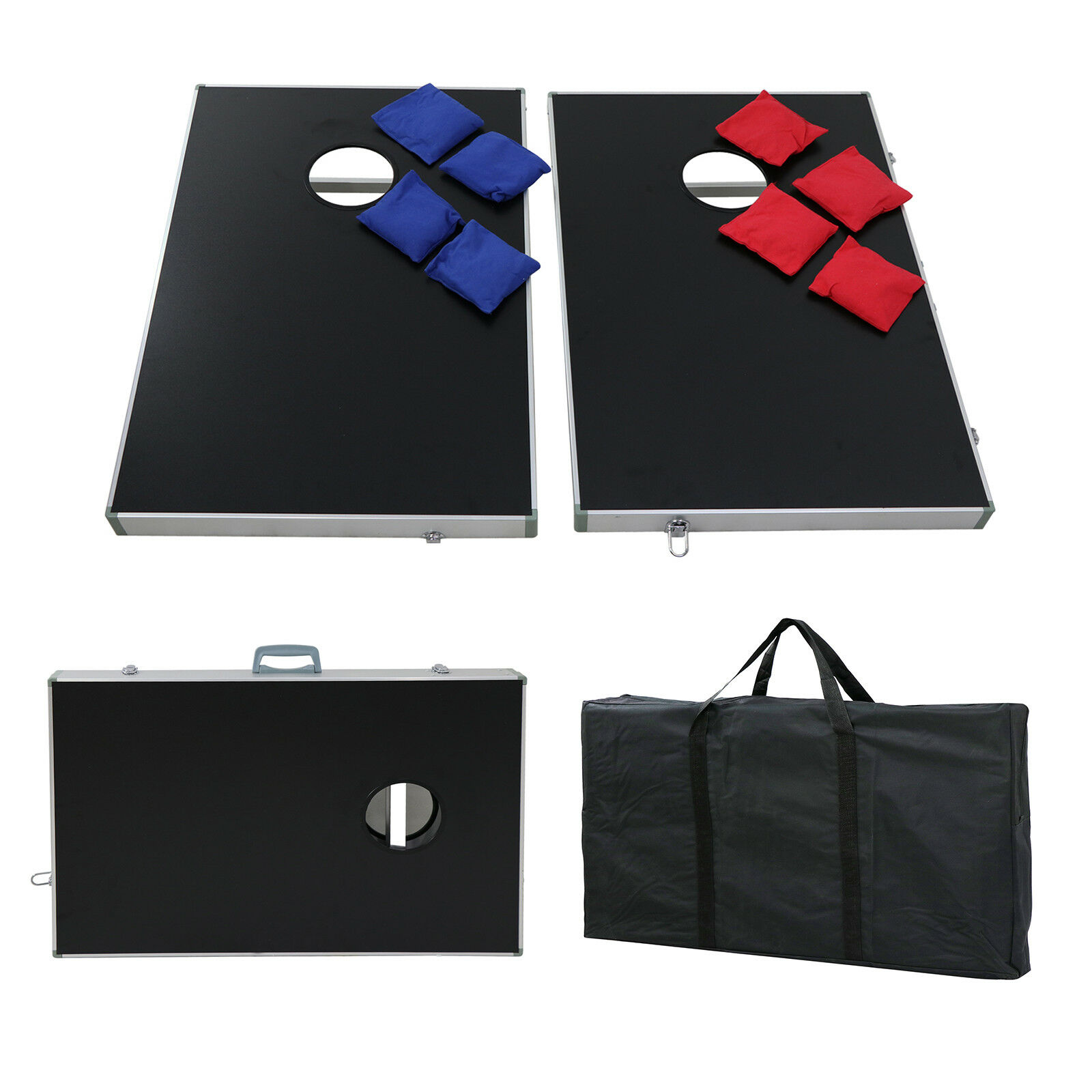 Tournament Bag Cornhole Game  Set Bean Toss Boards Indoor Outdoor bi-colour Bags  free delivery