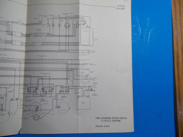 1968 Johnson Outboard Motors 2 Cycle Stern Drive Wiring