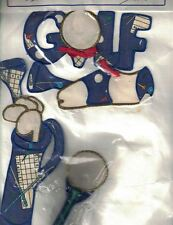 Whimsicals GOLF THEMED 5 Removable Stick On Appliques New in Package