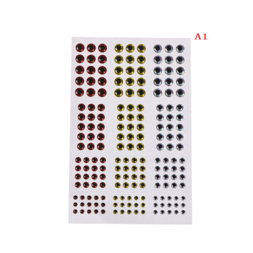 Mixed Size 3//4//5//6mm Fishing Lure Eyes for Fly Tying Jigs Craft VY*sh