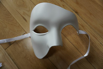 Masquerade //Ball //Prom.UK STOCK.FREEPOST. CAST Venetian Phantom//Half face Mask