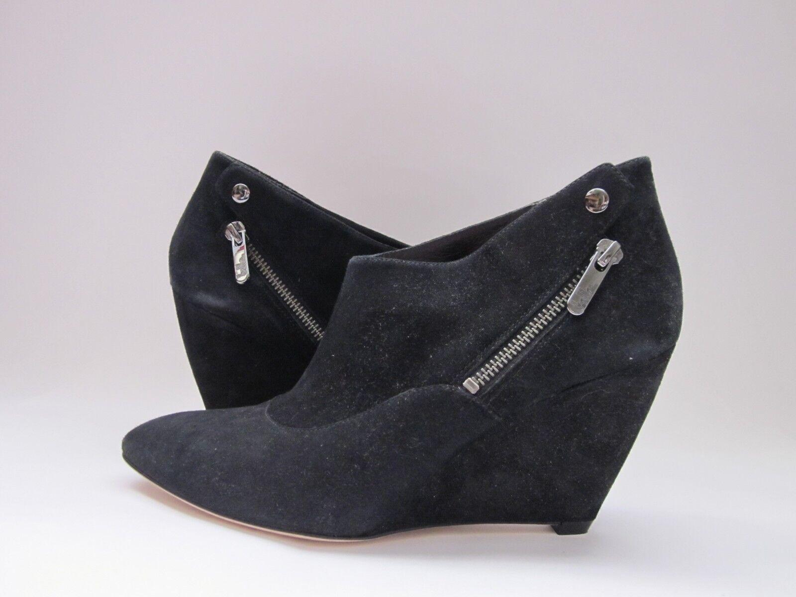 Belle by Sigerson Morrison Frankie Black Suede Fashion Ankle Bootie Women's 9 M