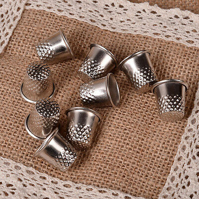 10X Dressmakers Vintage Metal Finger Thimble Protector Sewing Neddle Shield