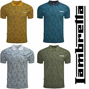 Lambretta-Cotton-Paisley-Polo-Shirts-Mens-Printed-T-Shirts-Summer-Tees-UK-S-4XL