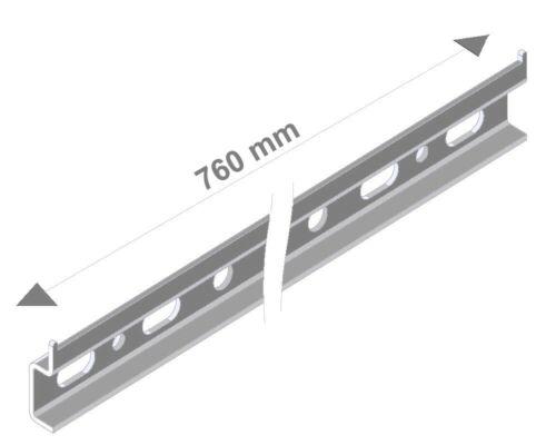 Montageschiene für Oberschränke Aufhängeschiene zink Schrankaufhänger Wandhaken