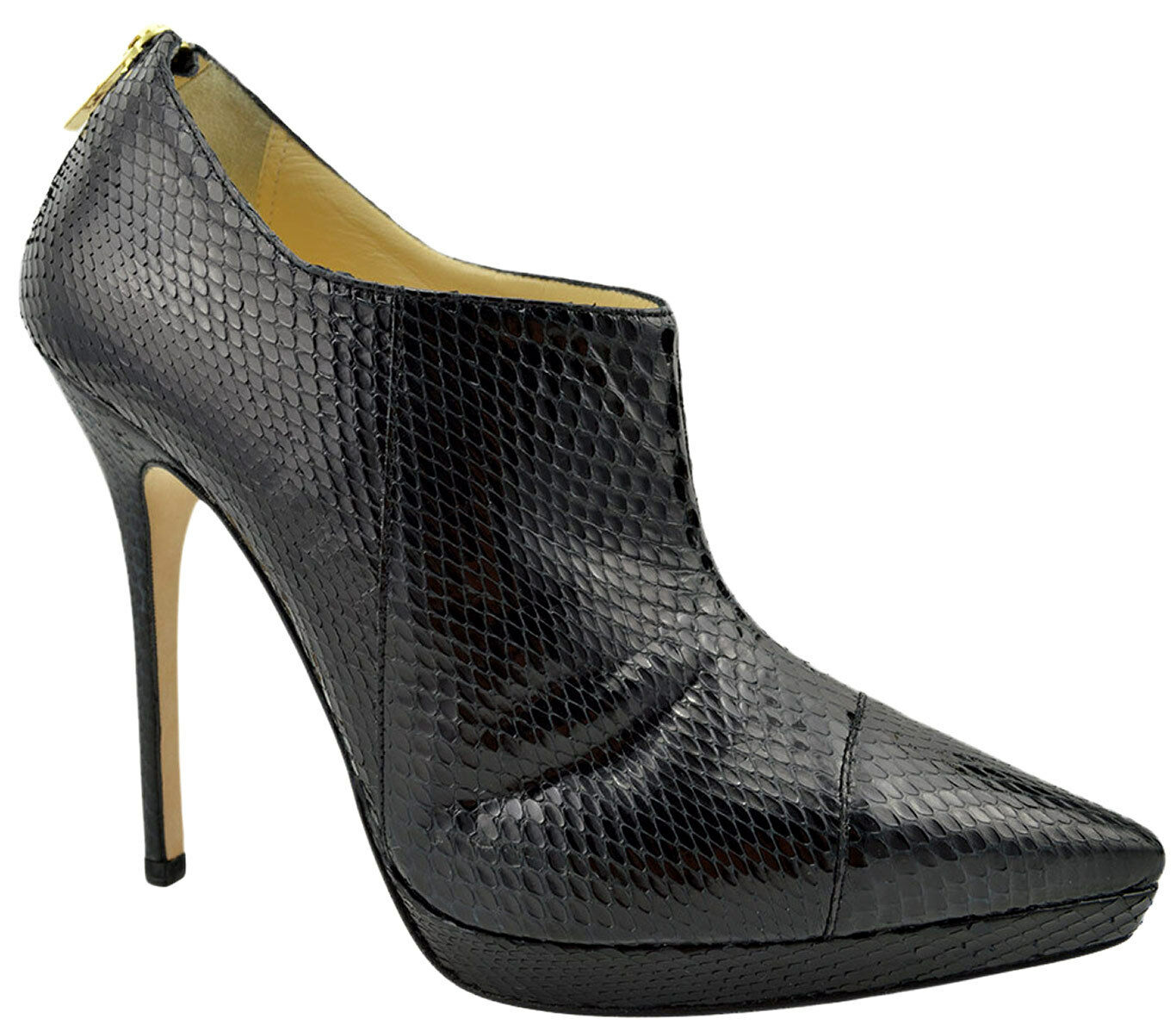 $1.495 JIMMY CHOO Black Snake Leather