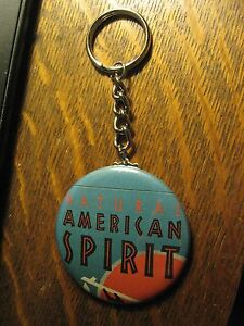 American-Spirit-Cigarettes-Advertisement-Keychain-Backpack-Purse-Clip-Ornament