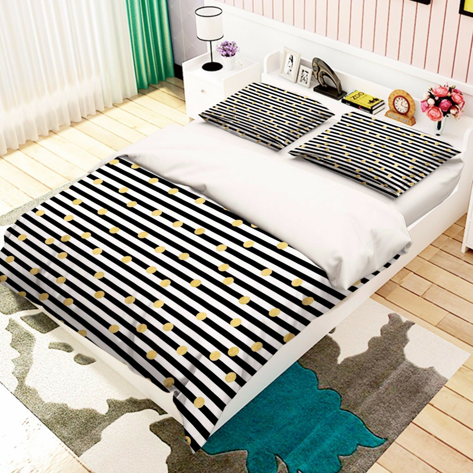 3d strisce DIS 748 LETTO FEDERE steppe duvet set soffitto Single de Carly