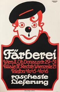 Affiche-Originale-Griessler-Franz-Farberei-Teinturier-Vienne-1925