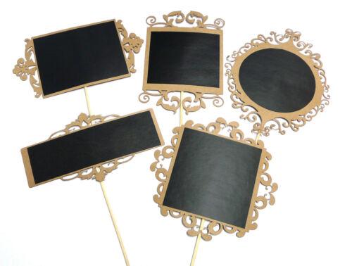 Photo Booth Props Chalkboard Filigree Weddings Parties CARDBOARD Filigree x 5PC