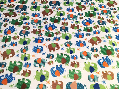 Baby Fabric Price Per Fat Quarter 50x75cm Delicacies Loved By All Elephants Pul Fabric For Nappies & Wetbags