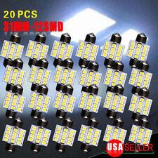 20X 7000K Cool White Festoon 31MM DE3175 Dome Map Interior Light bulbs 12LED 12V