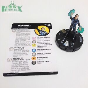 Heroclix-Avengers-Black-Panther-amp-Illuminati-set-Maximus-060-Super-Rare-w-card