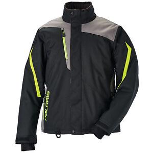 Polaris-Ripper-Hi-Vis-Black-Men-039-s-Winter-Insulated-Snowmobile-Jacket-2867720XX