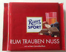 Ritter Sport Jamaican Rum, Raisin & Nut Chocolate Bars, 100g UK stock free post