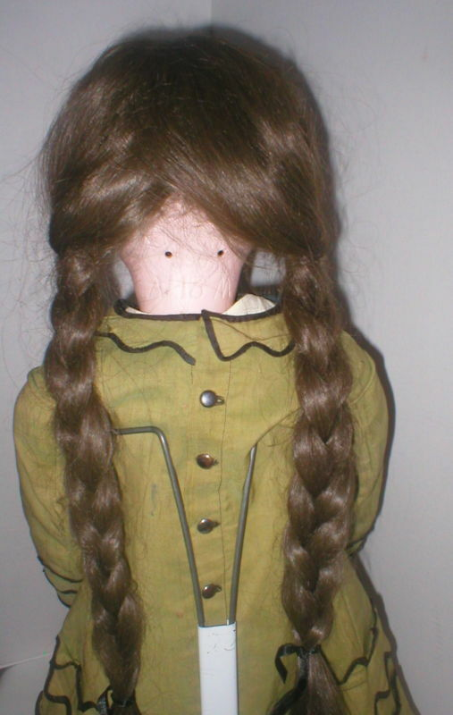 27  Geruomoy A.M. 390 bisque Marroneee eyes, eyes, eyes, Huuomo Hair wig, antique outfit 8bcbc5