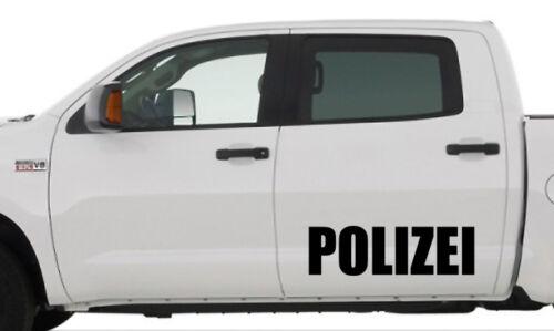 60 cm ca 2 x Polizei Aufkleber