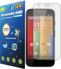 3x Clear LCD Screen Protector Cover Guard Shield for Motorola Moto G XT1032
