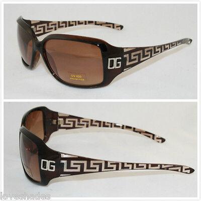 New DG Eyewear Women Rectangular Designer Sunglasses Shades Fashion Retro Brown