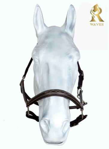 Details about  /Leather Halter Bridle Fancy Stitched Nose Band Doubled Stitched Rolled CheckRH38