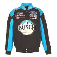 2017 Kevin Harvick 4 Busch Beer Blk/blue Twill Jacket Jh Design Large Free Ship