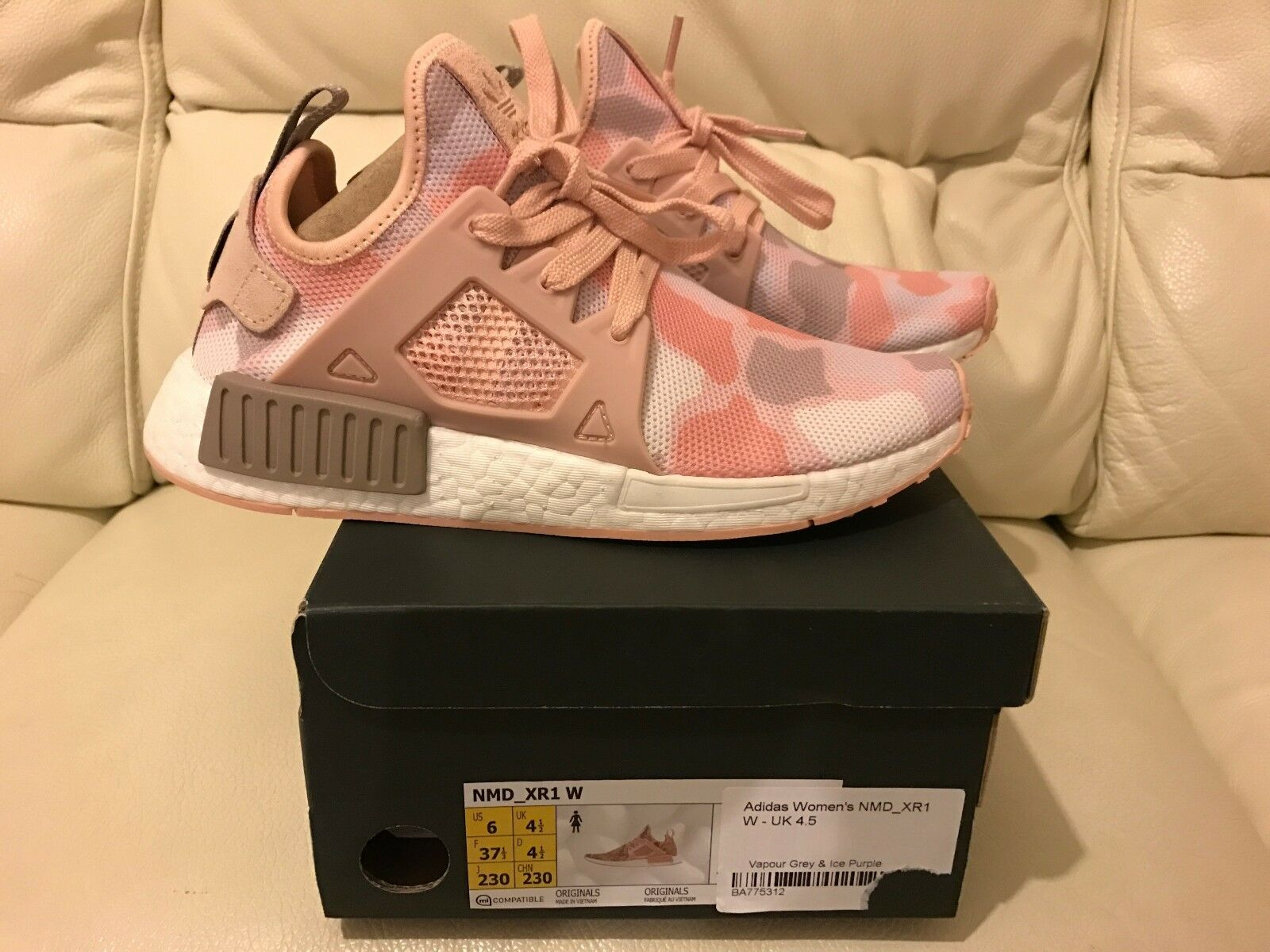 ADIDAS NMD XR1 RUNNER Rose Violet DUCK CAMO ALLTaille 4.5 5 5.5 6 6.5 7 NEW
