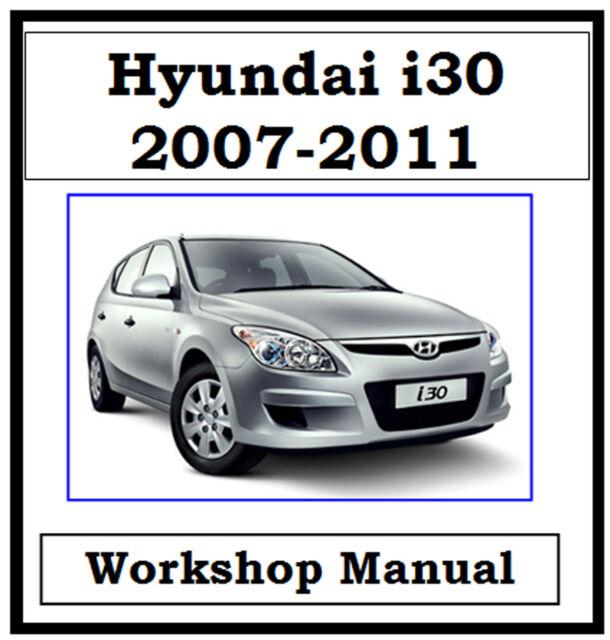 hyundai i30 fd 2007 2011 factory workshop manual on cd or download rh ebay com au hyundai i30 service repair manual free download hyundai i30 repair manual online