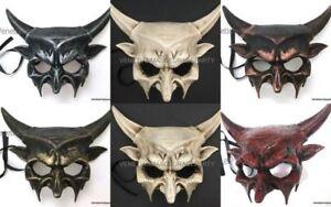 Details About Masquerade Ball Halloween Costume Evil Spirit Devil Mask Sharp Horns Haunted Art