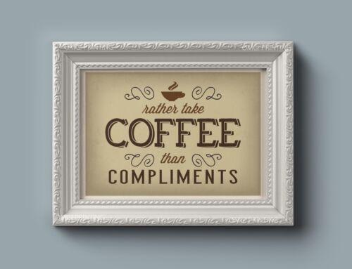 Retro Vintage Coffee Shop Posters For Kitchen Restaurant Caffeine Art Quotes