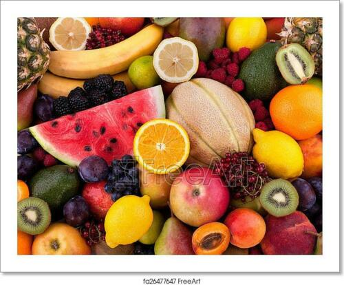 Fruits And Berries Art//Canvas Print Wall Art Poster C Home Decor