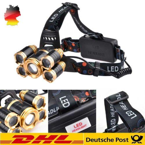 Super Hell stirnlampe 80000LM LED USB SCHEINWERFER KOPF TASCHENLAMP IPX4 DE