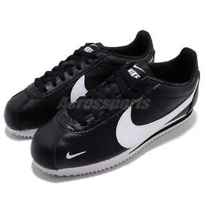 120d3af44 Nike Classic Cortez PREM Premium Black White Mens Retro Running ...