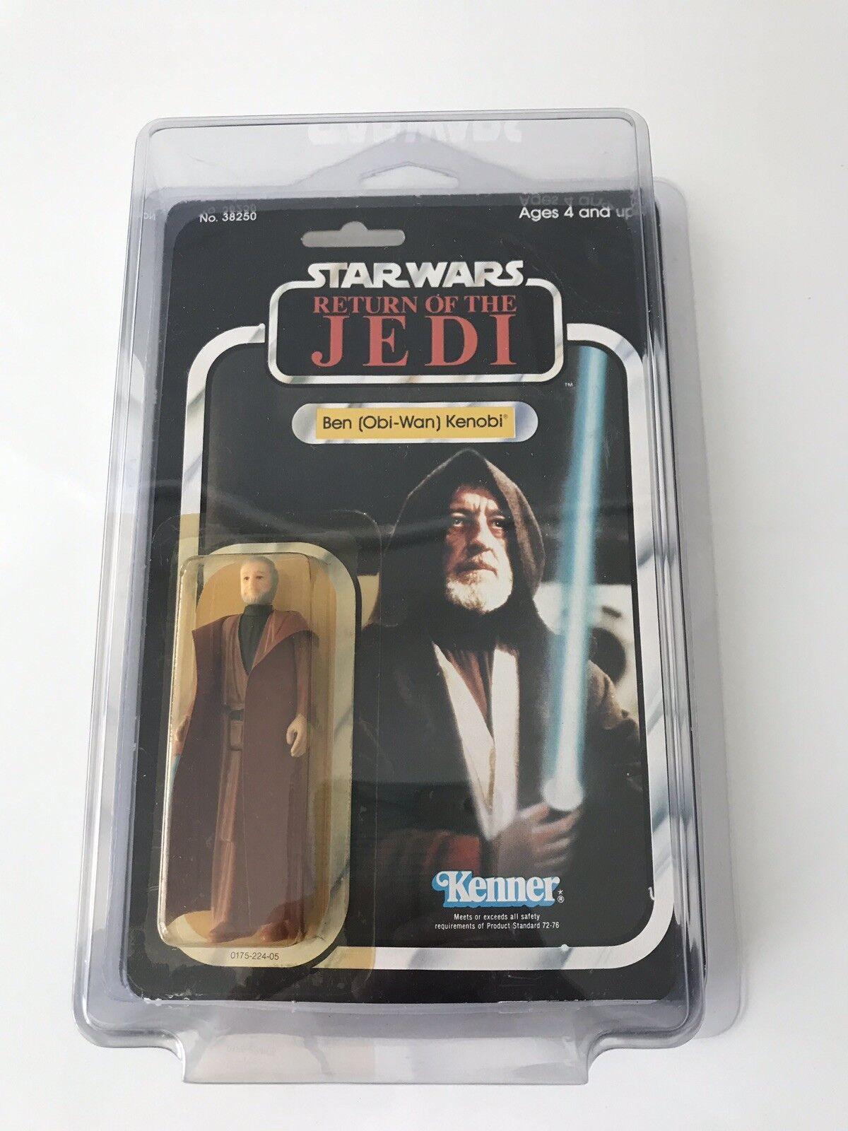 Retro Star wars regreso del Jedi Obi-Wan Kenobi Figura De Acción 77 menta en tarjeta