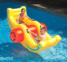 New Swimline 9058 Swimming Pool Inflatable Sea-Saw Rocker See-Saw Float Lounge