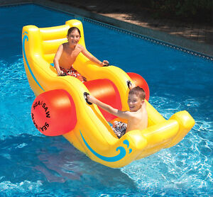 New-Swimline-9058-Swimming-Pool-Inflatable-Sea-Saw-Rocker-See-Saw-Float-Lounge
