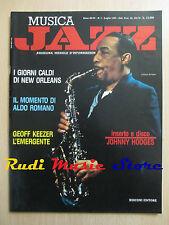 Rivista MUSICA JAZZ 7/1990 Jonny Hodges Geoff Keezer Sammy Davis Jr.  NO cd