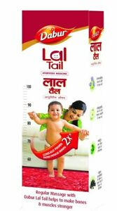 DABUR-LAL-TAIL-STRENGTHENING-BABY-039-S-BONES-amp-MUSCLES-LOT-OF-2-Pcs-50-ML